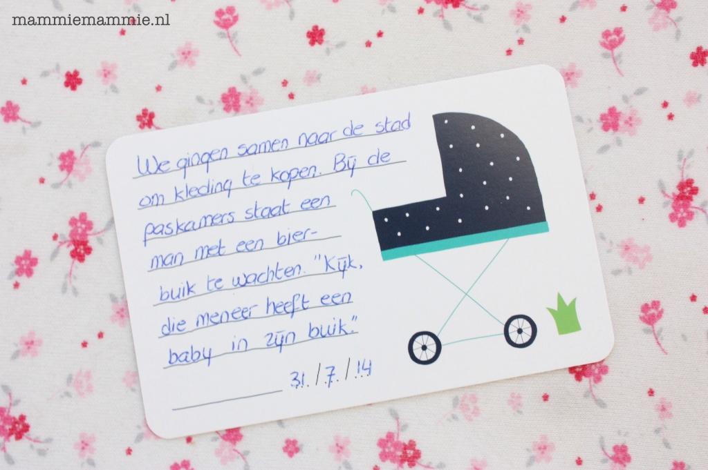 Voorbeeld milestone mini card