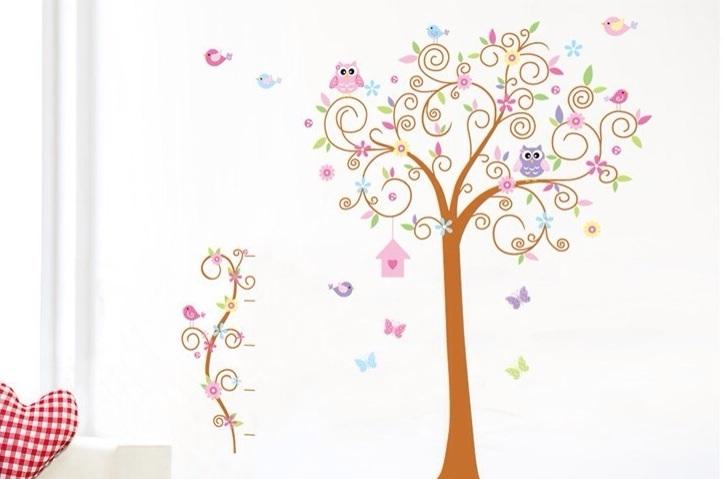 ... boom maar een houten boom of stickerboom als (wand) decoratie. Ik heb