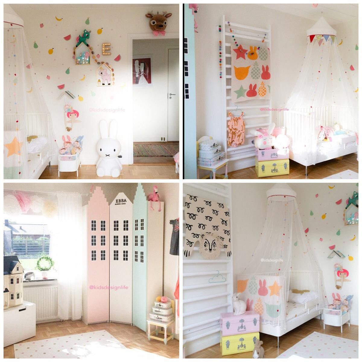 Inspiratie scandinavische kinderkamer interieur - Kleine kinderkamer ...