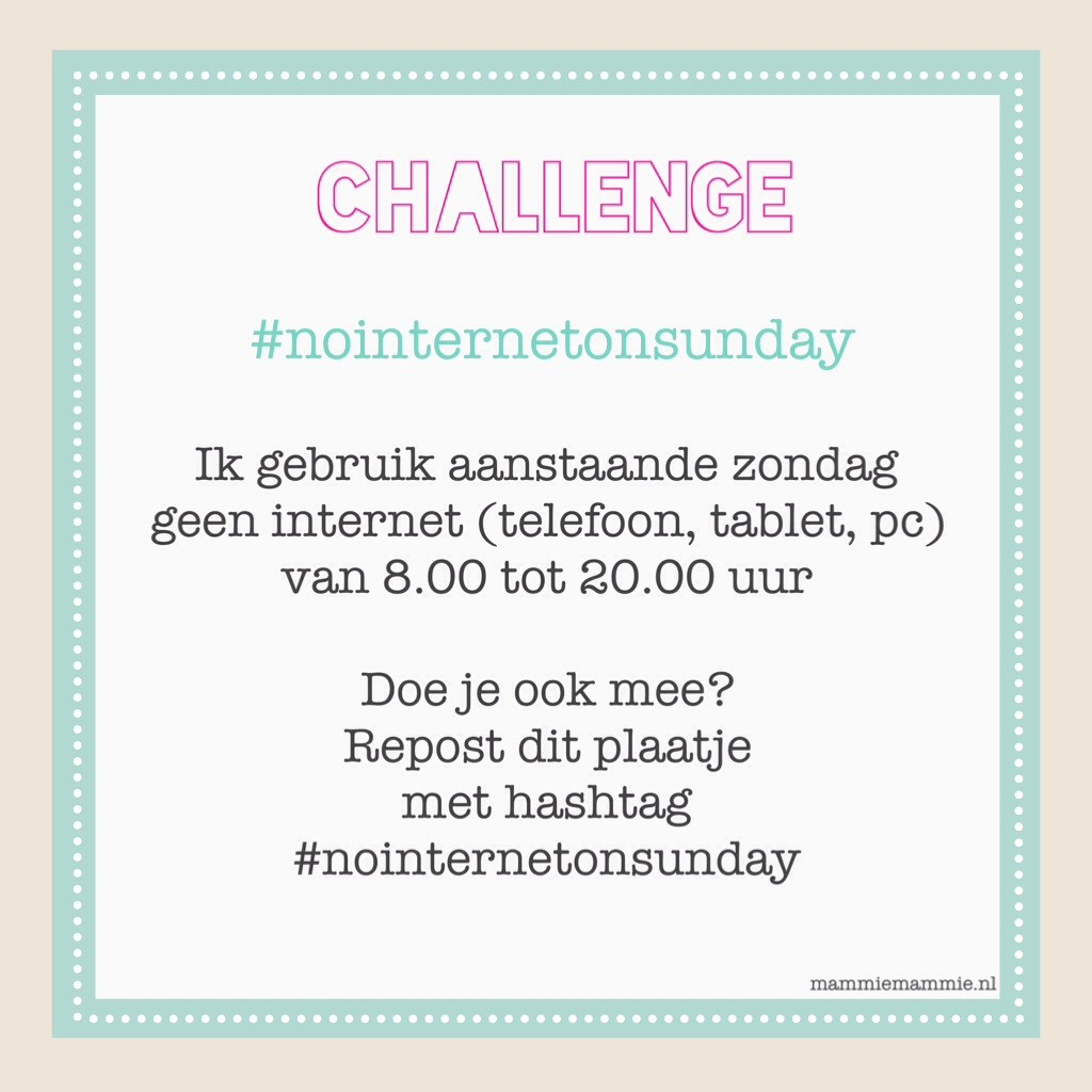 #nointernetonsunday mama blog
