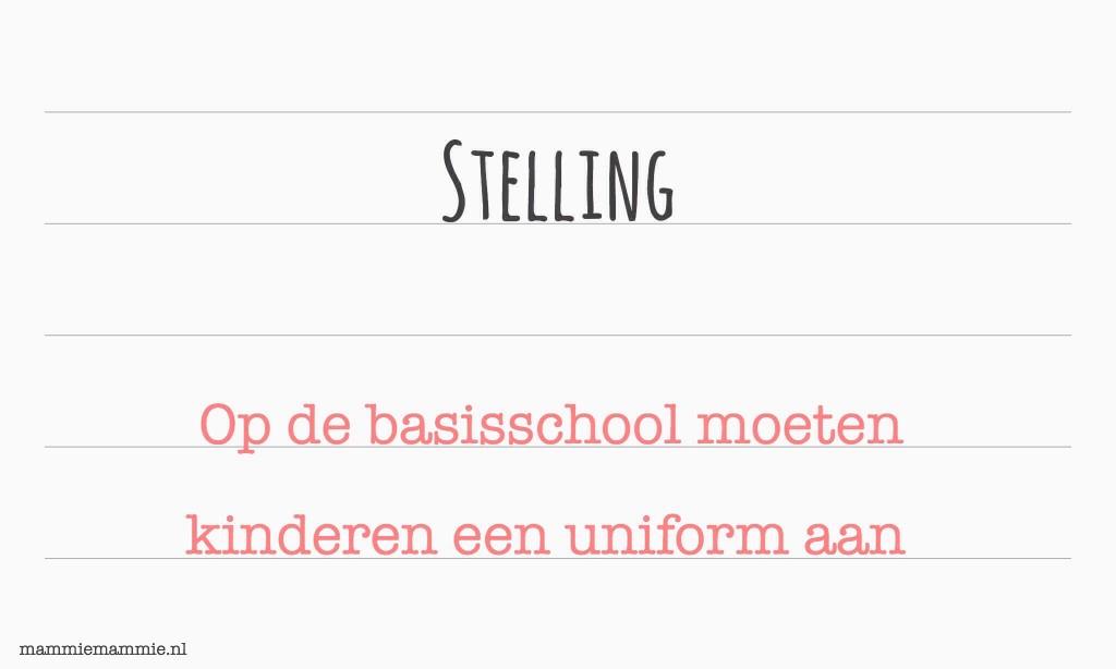 Mening uniform op scholen