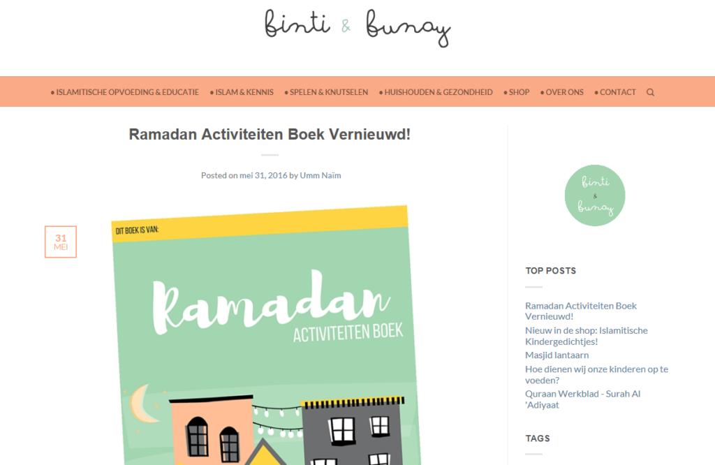 Ramadan boekje_binti_bunay