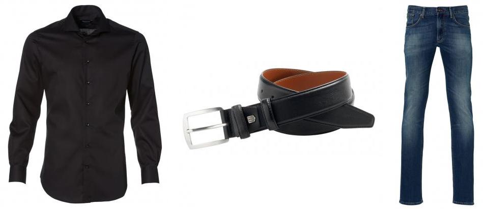 zwart overhemd voor kantoor