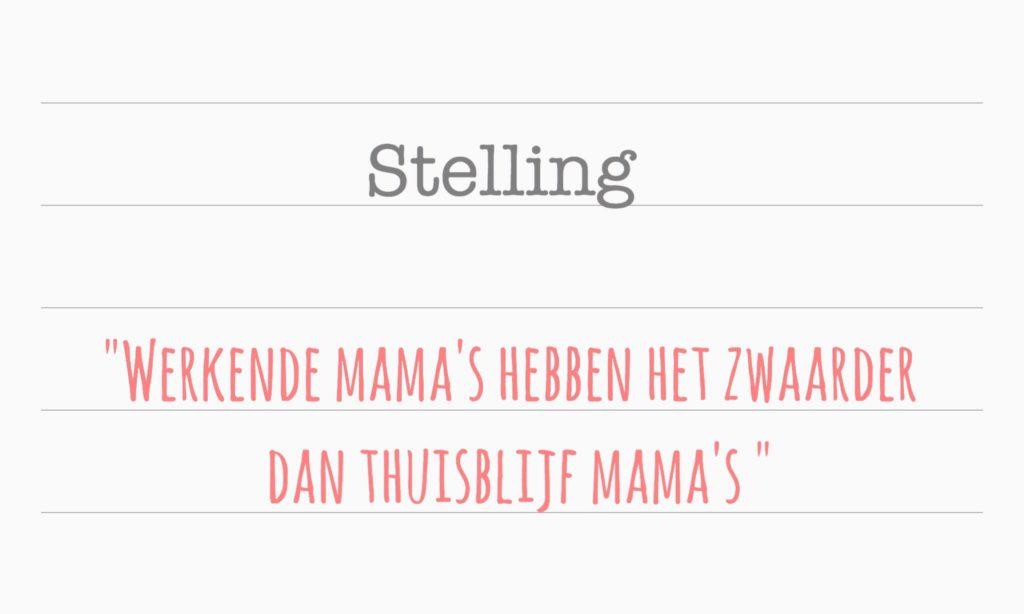 Werkende mama en thuisblijf mama