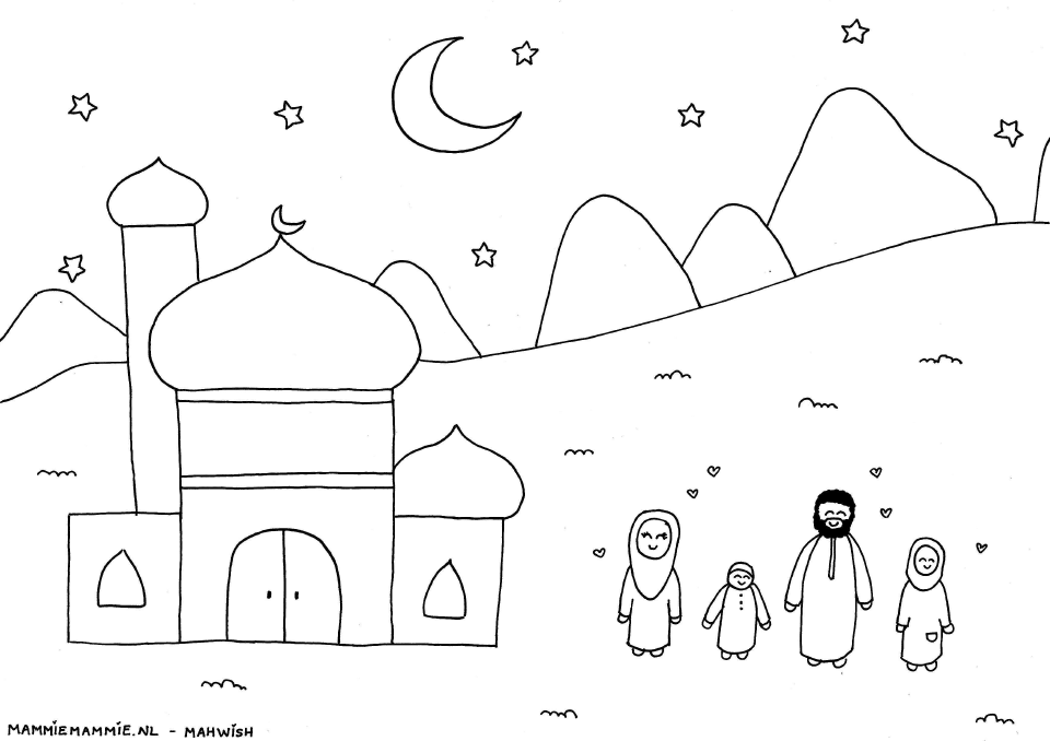 Islam | 3x Islamitische kleurplaten