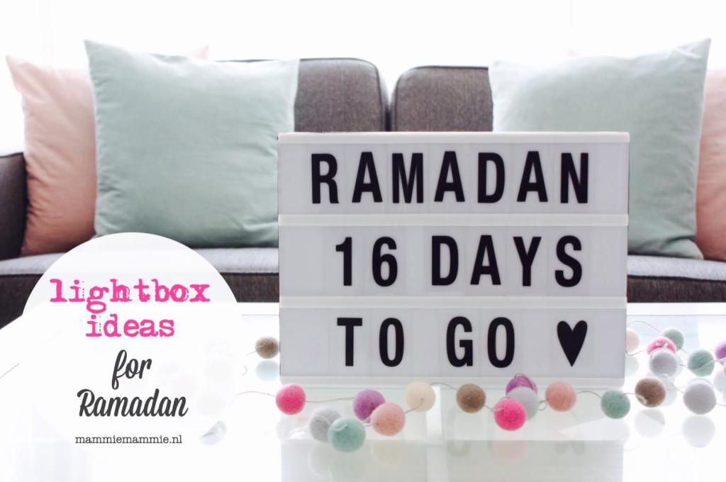 Ramadan Lightbox Ideas