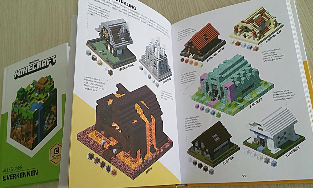 wat zijn minecraft boeken
