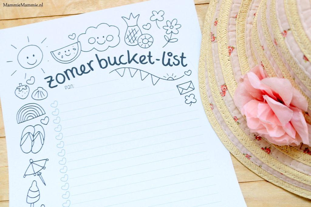 Zomer bucketlist printable