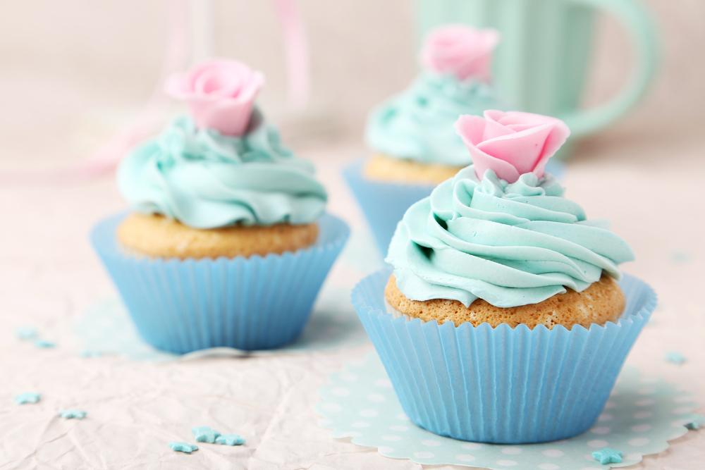 gender reveak cupcakes