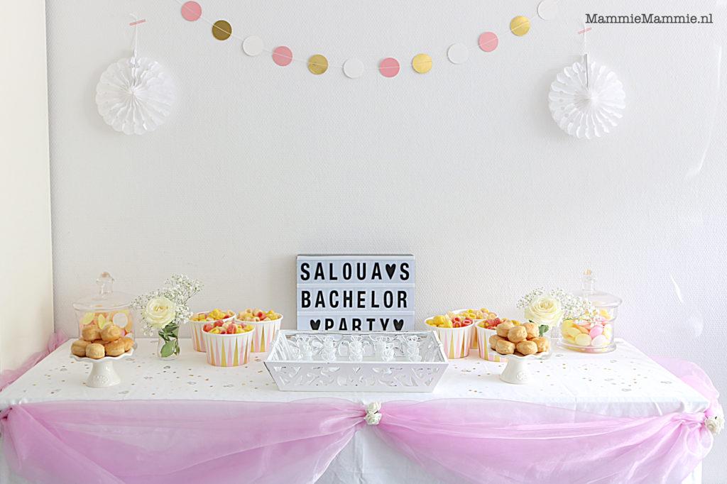 welkomsttafel voor feest