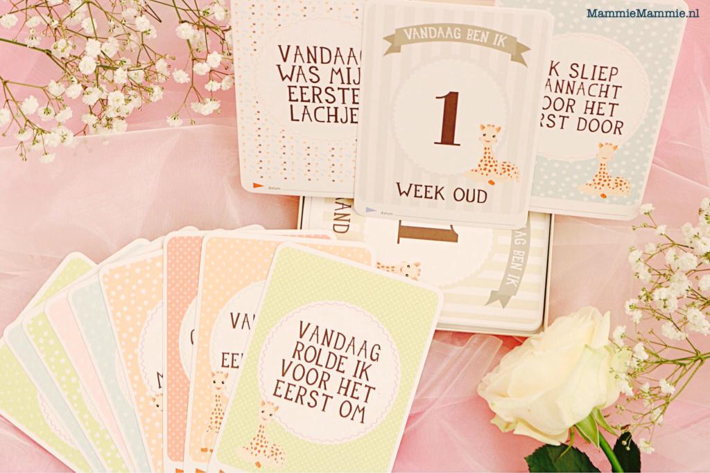 baby kaarten sophie de giraf