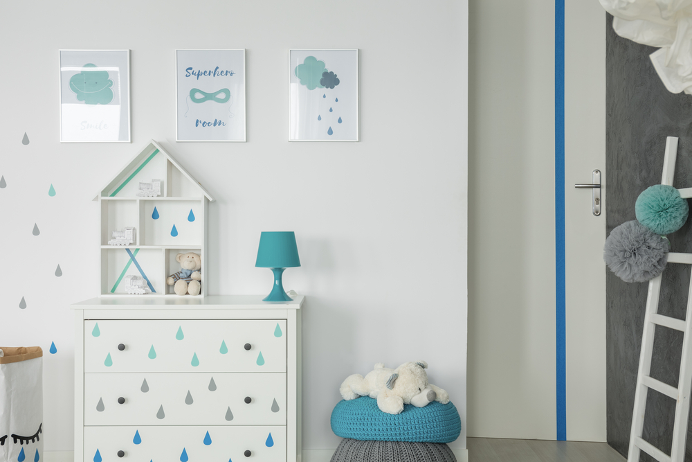 budget blauwe babykamer voor jongens