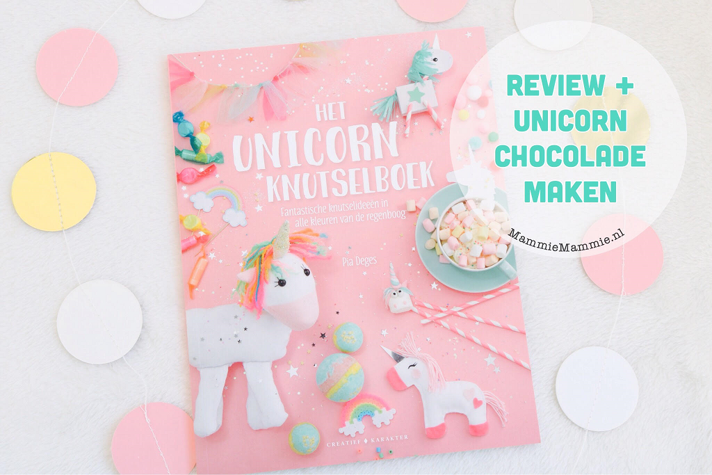 Review | Het Unicorn knutselboek + regenboog chocolade maken