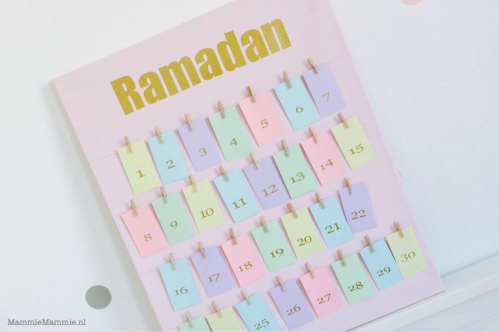 aftelkalender maken Ramadan