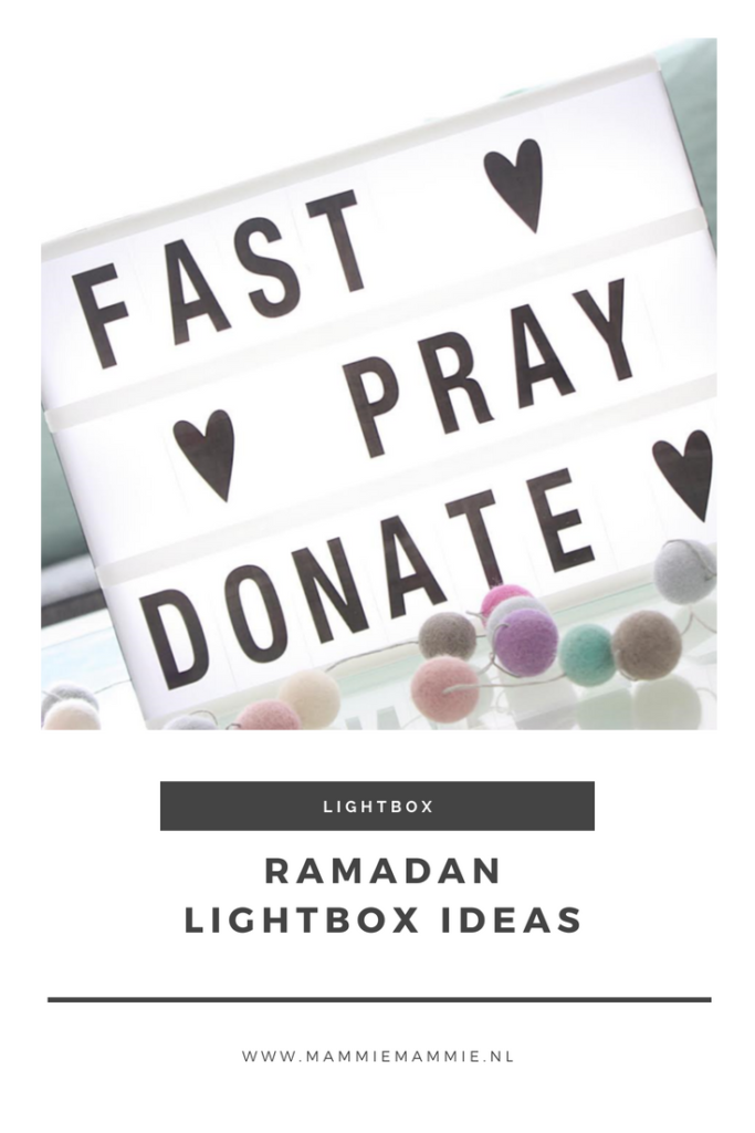 Lightbox ideas Ramadan Eid
