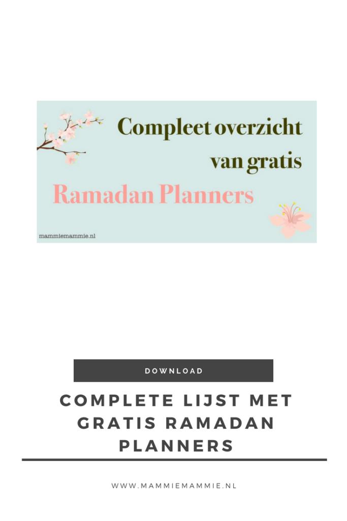 compleet overzicht ramadan planners