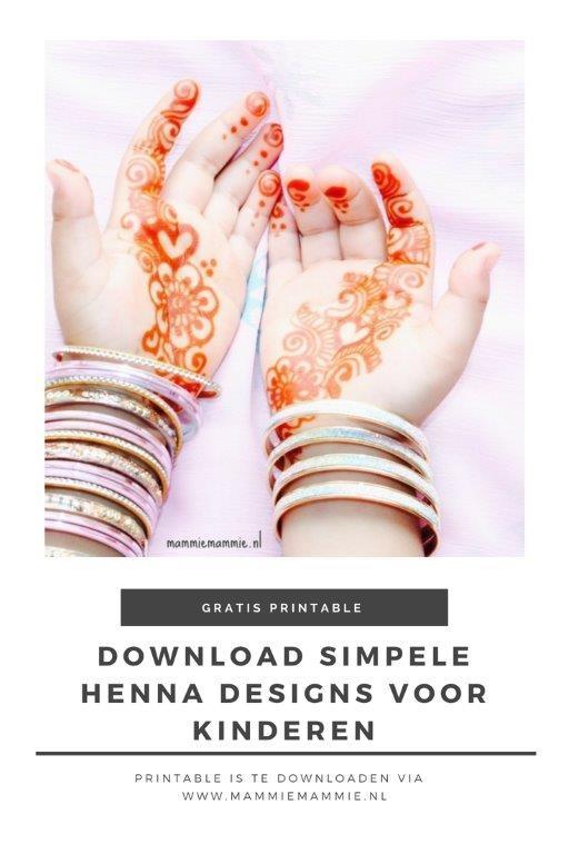henna patronen voor kinderen gratis download