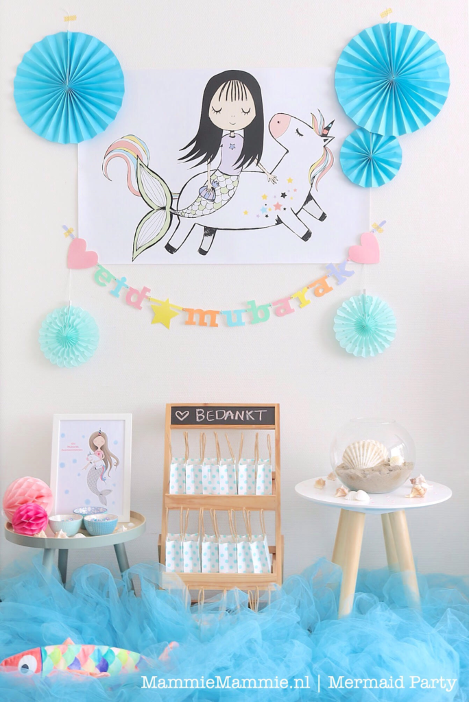 mermaid party decor