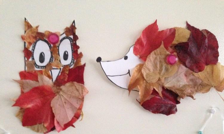 herfst dieren knutselen
