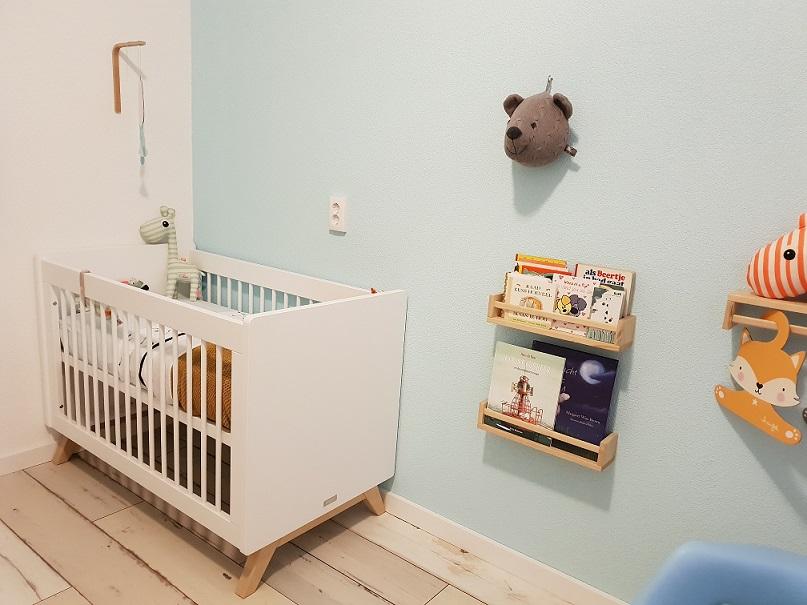 blauwe babykamer voor jongetje