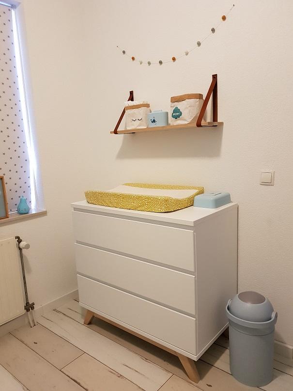 scandinavische commode babykamer