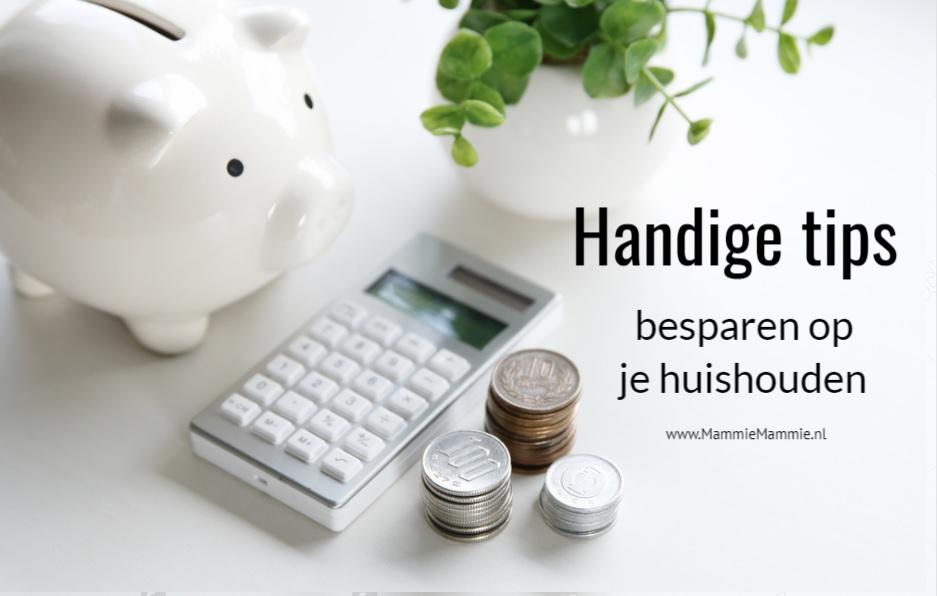 handige tips besparen op huishouden