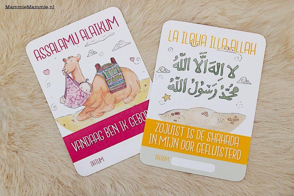 islamitische baby milestone kaarten