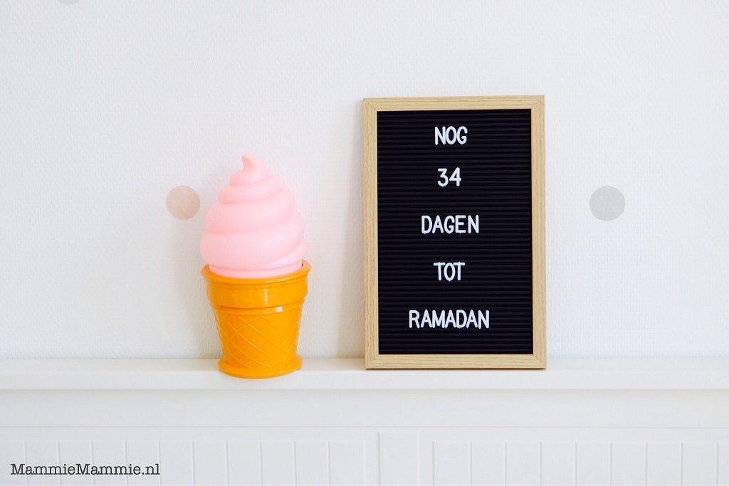aftellen voor ramadan