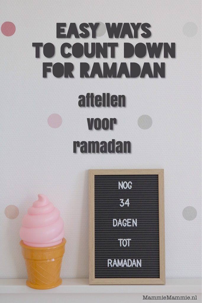 ramadan countdown ideas