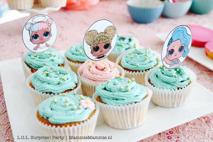 glutenvrije cupcakes kinderfeest
