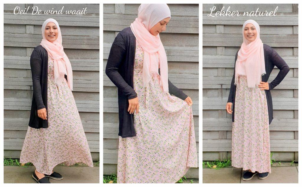 jurk korte mouwen hijaab