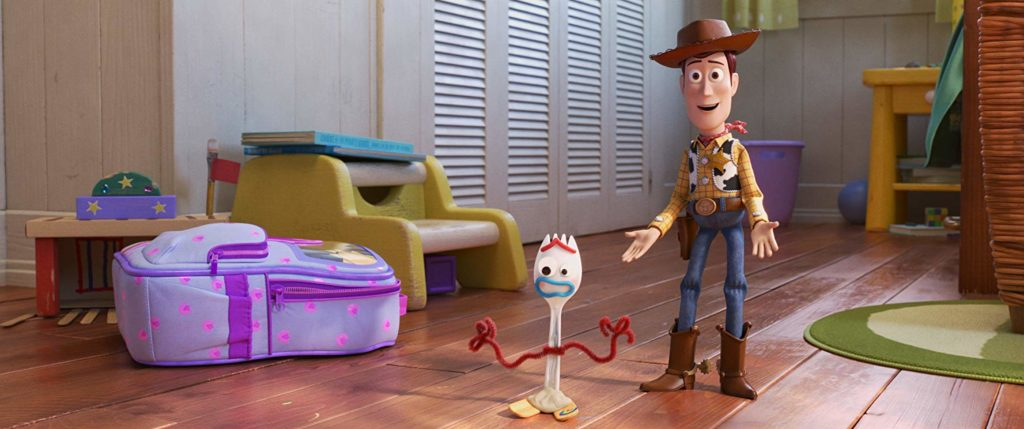 toy story 4 forky en woody
