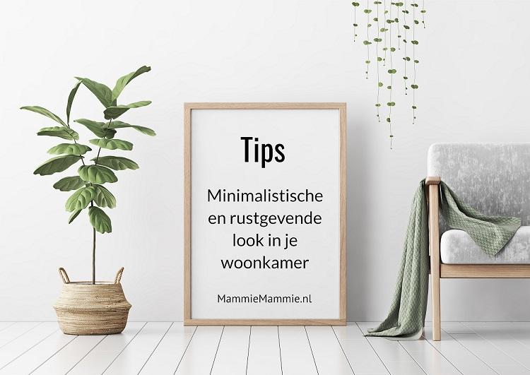 tips minimalistische woonkamer
