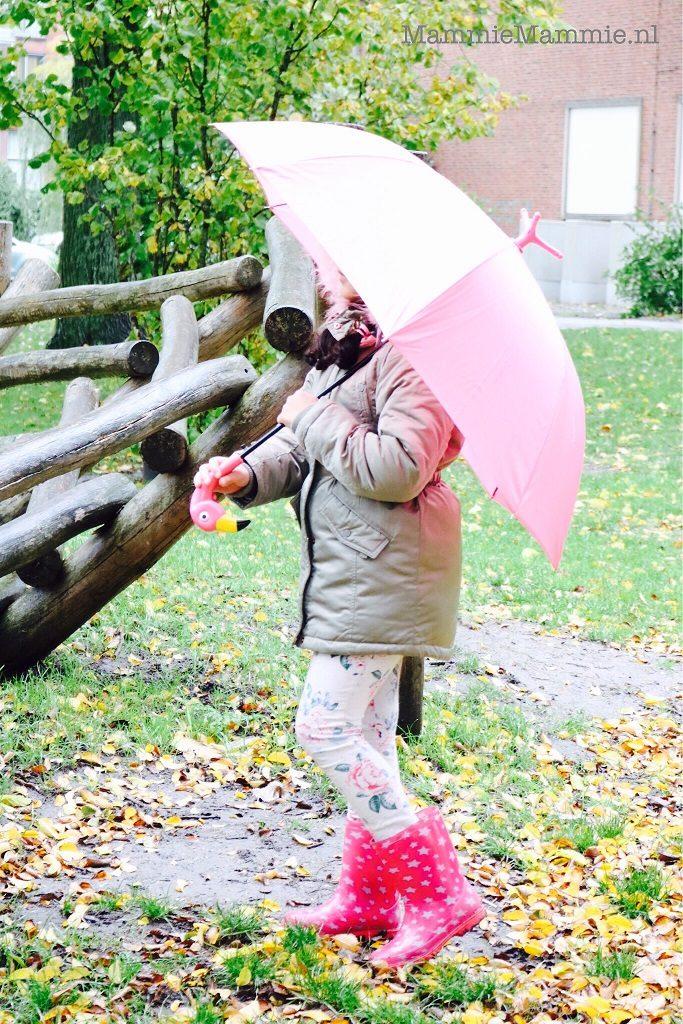 roze paraplu kopen