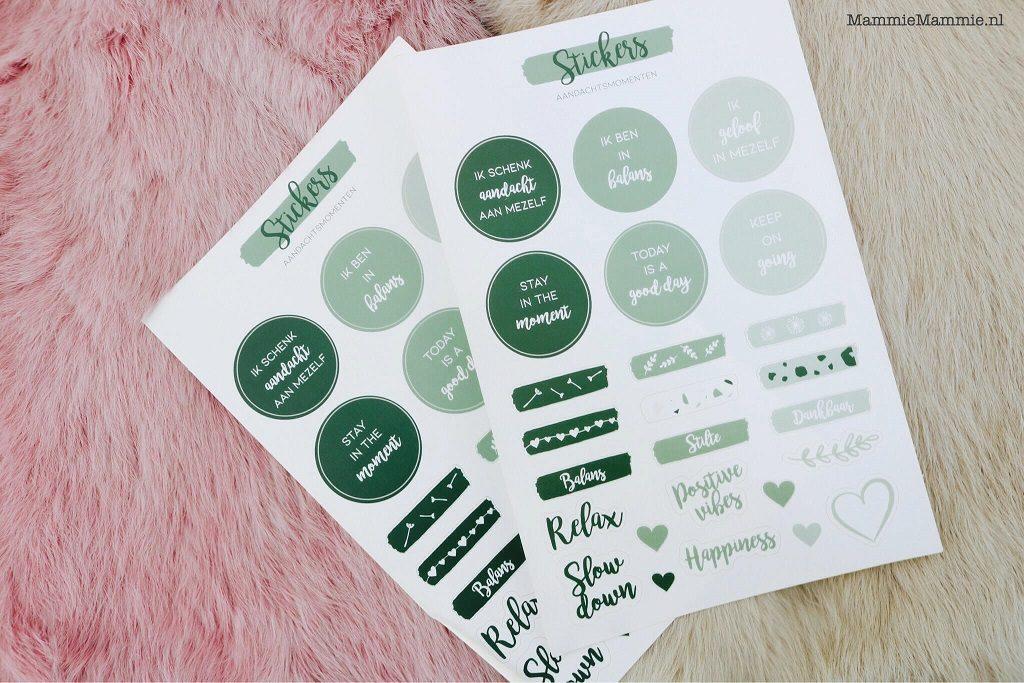 stickers voor journal aandachtsmomenten