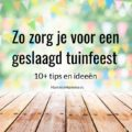 tuinfeest tips
