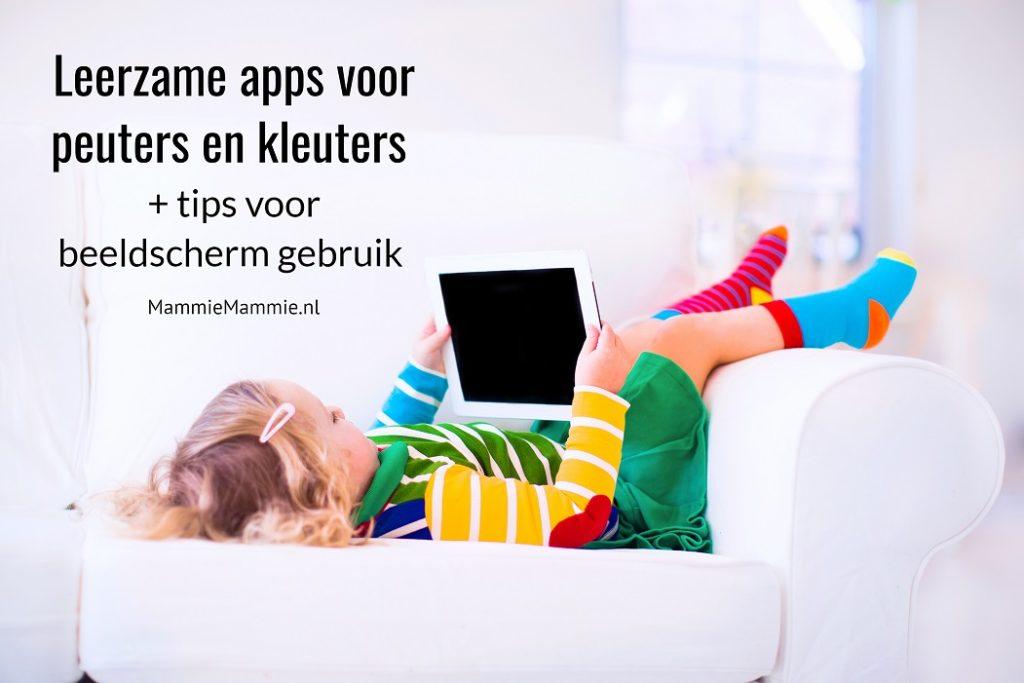 leerzame apps voor peuters en kleuters