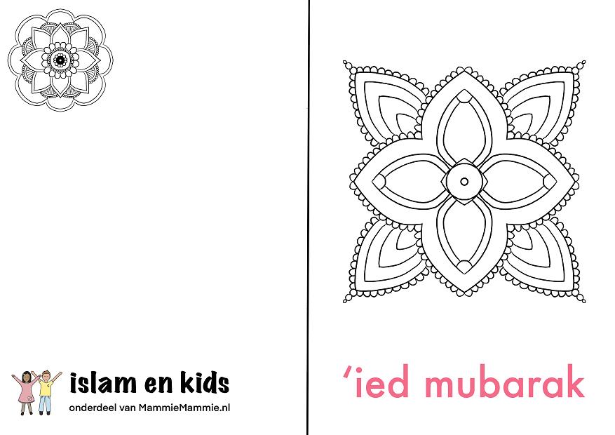 eid mubarak kaart kinderen