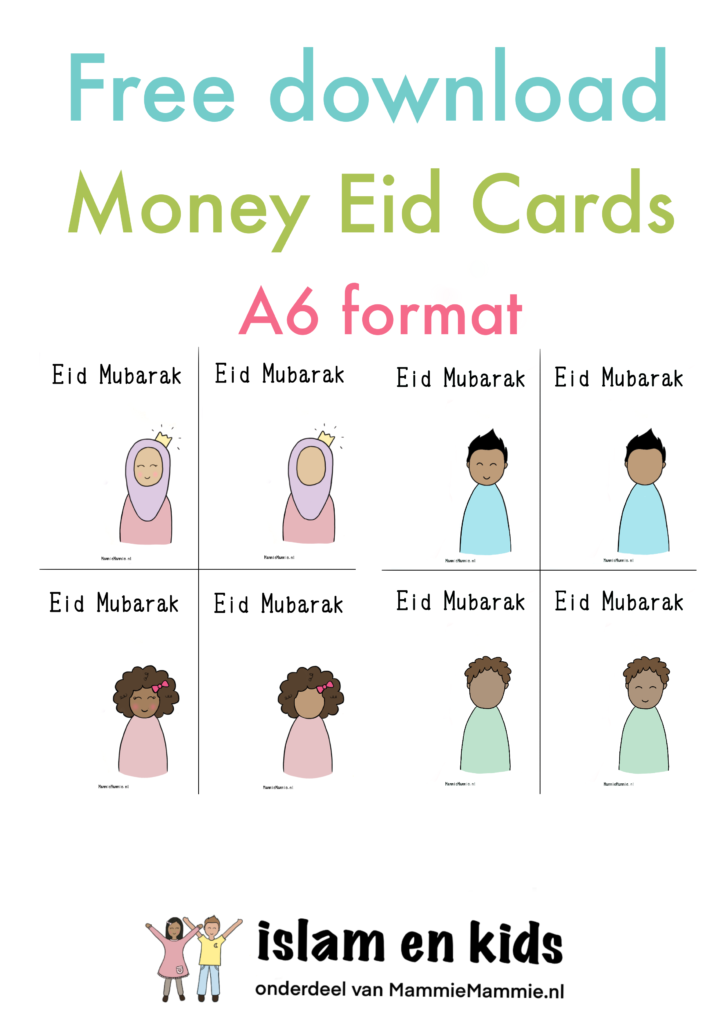 eid money cards for kids