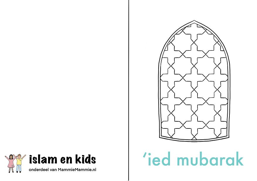 inkleurkaart eid ul fitr kinderen