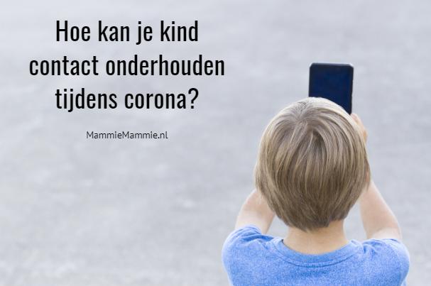 kind contact tijdens corona