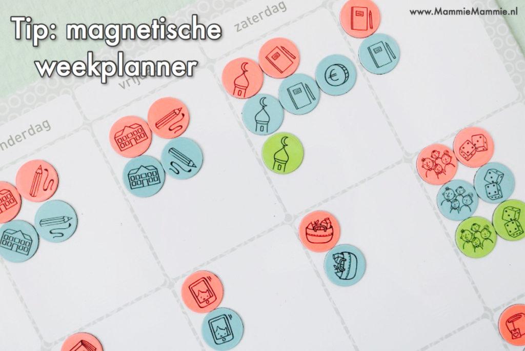 magnetische weekplanner kind