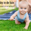 tips baby in de tuin