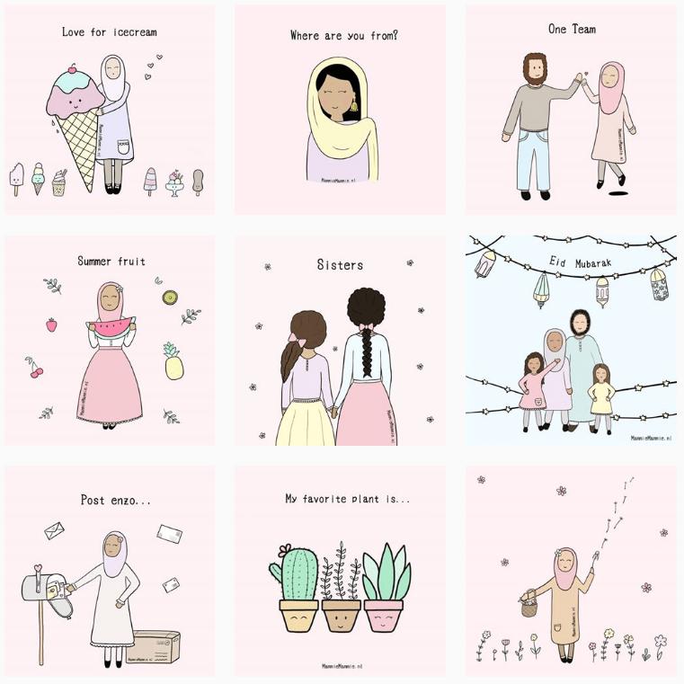illustrator schattig doodles