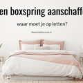 tips aanschaf boxspring