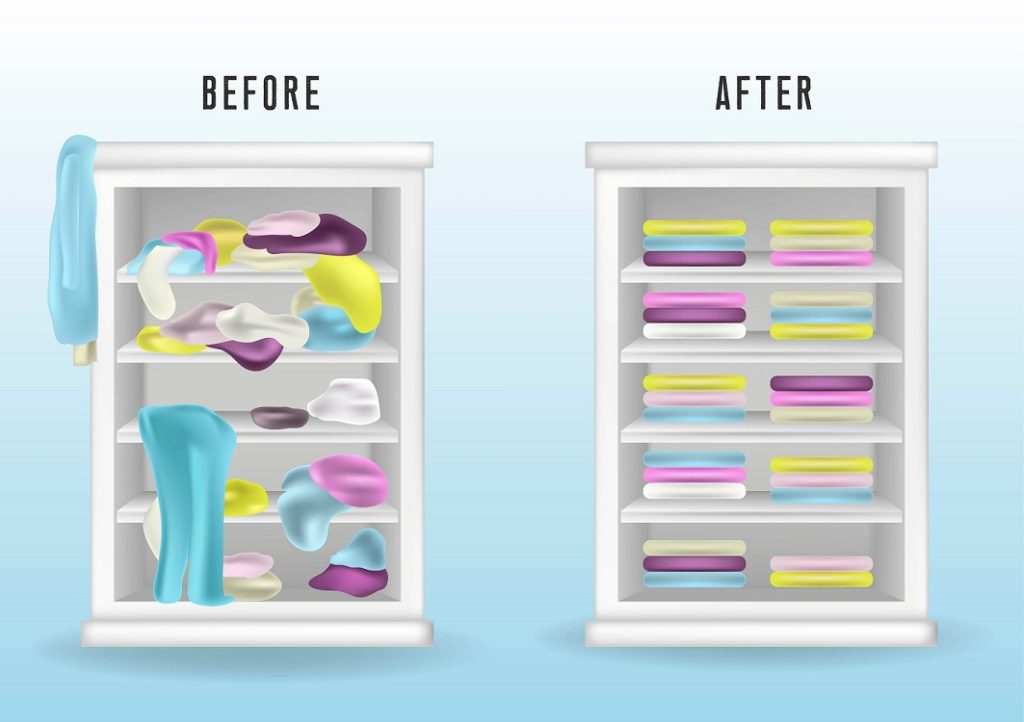 hoe ruim je kledingkast op