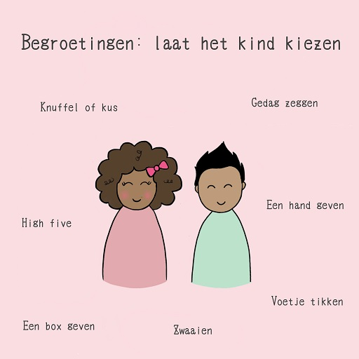 alternatief hand kus geven kinderen