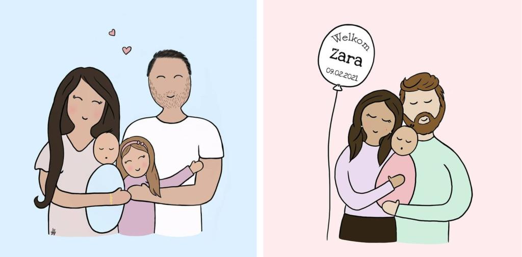 geboortekaart laten tekenen