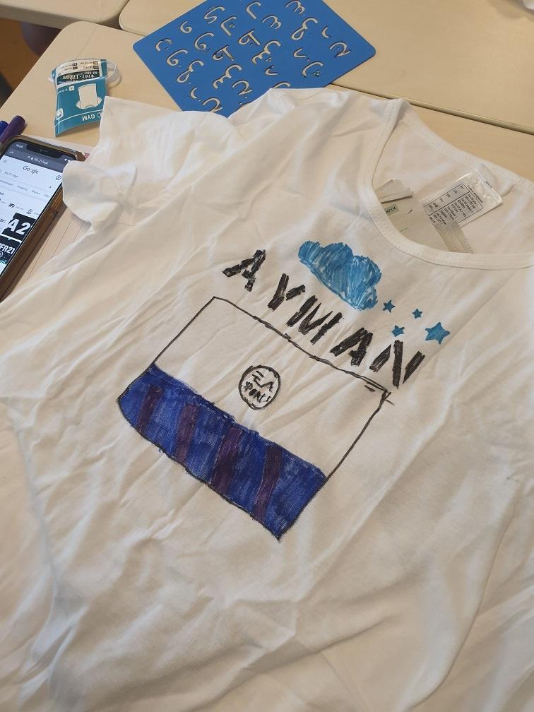 shirt met textiel markers versieren