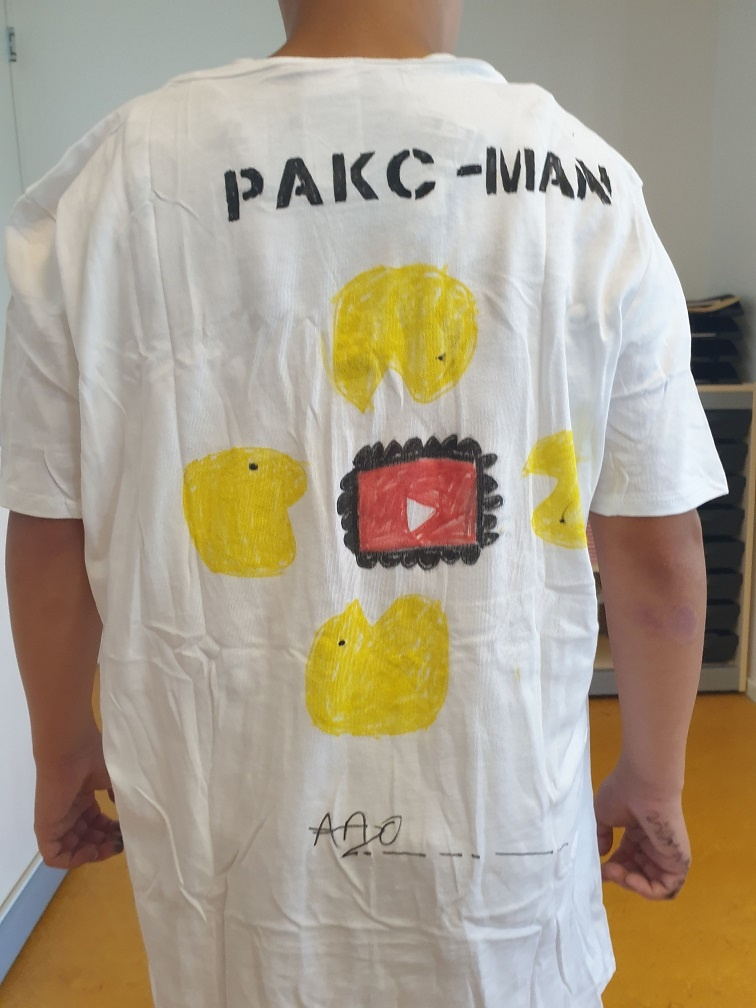 tshirt ontwerp met stiften